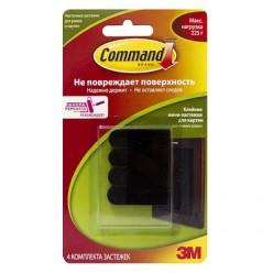 Легкоудаляемые клейкие застежки для картин с системой крепления Command®, чёрные малые