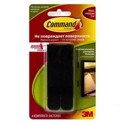 Легкоудаляемые клейкие застежки для картин с системой крепления Command®, чёрные большие