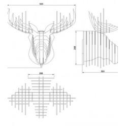Декоративная голова Лося
